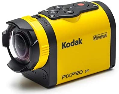 "41VSnM0KIxL. AC  - Kodak PIXPRO SP1 Action Cam with Explorer Pack 14 MP Water/Shock/Freeze/Dust Proof, Full HD 1080p Video, Digital Camera and 1.5"" LCD Screen (Yellow)"