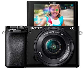 41WIXNbgZWL. AC  - Sony Alpha A6100 Mirrorless Camera with 16-50mm and 55-210mm Zoom Lenses, ILCE6100Y/B, Black