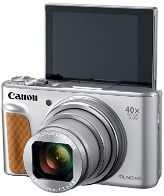 41Z4G5Lje1L. AC  - Canon PowerShot SX740 Digital Camera w/40x Optical Zoom & 3 Inch Tilt LCD - 4K VIdeo, Wi-Fi, NFC, Bluetooth Enabled (Silver)