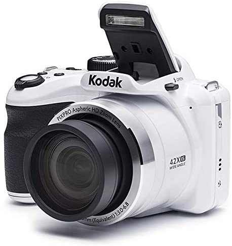 41ZPqrXgXML. AC  - KODAK PIXPRO AZ421 Astro Zoom 16MP Digital Camera with 42x Optical Zoom (White) Bundle with 32GB SD Memory Card and Holster Bag (3 Items)