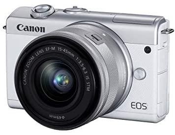 41ZkPCjVTZL. AC  - Canon EOS M200 Compact Mirrorless Digital Vlogging Camera with EF-M 15-45mm Lens, Vertical 4K Video Support, 3.0-inch Touch Panel LCD, Built-in Wi-Fi, and Bluetooth Technology, White