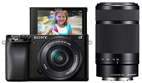 41civc6COML. AC  - Sony Alpha A6100 Mirrorless Camera with 16-50mm and 55-210mm Zoom Lenses, ILCE6100Y/B, Black