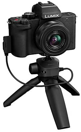41cmbWTJkoL. AC  - Panasonic LUMIX G100 4k Mirrorless Camera, Lightweight Camera for Photo and Video, Built-in Microphone, Micro Four Thirds with 12-32mm Lens, 5-Axis Hybrid I.S, 4K 24p 30p Video, DC-G100KK (Black)