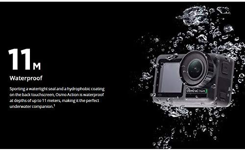 41dvorCr8UL. AC  - DJI Osmo Action - 4K Action Cam 12MP Digital Camera with 2 Displays 36ft Underwater Waterproof WiFi HDR Video 145° Angle, Black