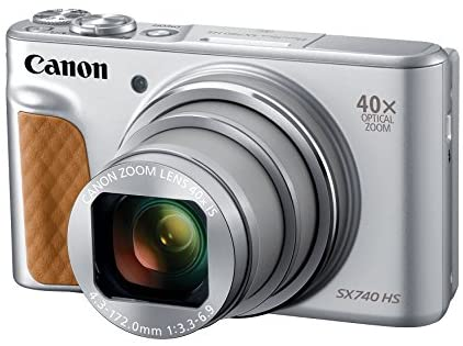 41l10Dul+PL. AC  - Canon PowerShot SX740 Digital Camera w/40x Optical Zoom & 3 Inch Tilt LCD - 4K VIdeo, Wi-Fi, NFC, Bluetooth Enabled (Silver)