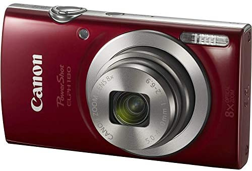 41lA5nCb3wL. AC  - Canon PowerShot ELPH 180 Digital Camera (Red) w/ 32GB SD Card