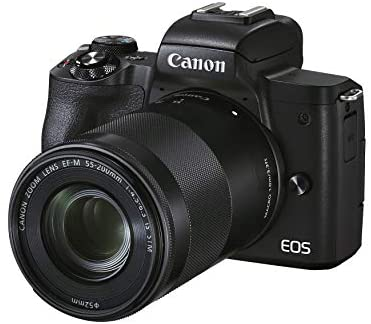 41nqy3BmroL. AC  - Canon EOS M50 Mark II (Black) + EF-M 15-45mm & EF-M 55-200mm is STM Bundle