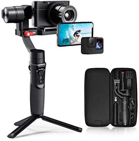 41oJkC4afGL. AC  - Hohem All in 1 3-Axis Gimbal Stabilizer for Compact Cameras/Action Camera/Smartphone w/ 600° Inception Mode, 0.9lbs Payload for iPhone 11 Pro Max/Gopro Hero 8/Sony Compact Camera RX100 - iSteady Multi