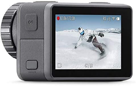41oQowg aIL. AC  - DJI Osmo Action - 4K Action Cam 12MP Digital Camera with 2 Displays 36ft Underwater Waterproof WiFi HDR Video 145° Angle, Black