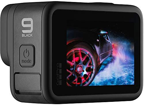 41oW4S0hnnL. AC  - GoPro HERO9 Black, Waterproof Sport and Action Camera, 5K/4K Video, Power Bundle with Dual Charger, 3 Extra Battery, 128GB microSD Card, Cleaning Kit