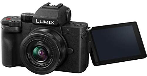41tPw3AqMBL. AC  - Panasonic DC-G100KK LUMIX G100 Mirrorless 4K Vlogging Camera with 12-32mm F3.5-5.6 Lens 3 Battery Bundle Deco Gear Backpack + Photo Video LED + Microphone + Monopod + 64GB Software Kit & Accessories