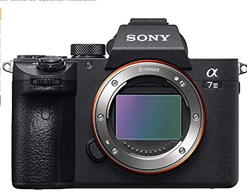 41twea2SY3L. AC  - Sony a7 III Full-Frame Mirrorless Interchangeable-Lens Camera Optical with 3-Inch LCD, Black (ILCE7M3/B) (Renewed)