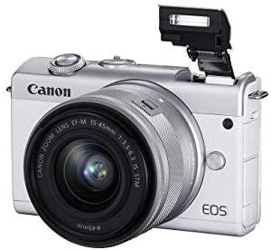 41xf8nS7QJL. AC  - Canon EOS M200 Compact Mirrorless Digital Vlogging Camera with EF-M 15-45mm Lens, Vertical 4K Video Support, 3.0-inch Touch Panel LCD, Built-in Wi-Fi, and Bluetooth Technology, White