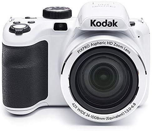 51088UWsgjL. AC  - KODAK PIXPRO AZ421 Astro Zoom 16MP Digital Camera with 42x Optical Zoom (White) Bundle with 32GB SD Memory Card and Holster Bag (3 Items)