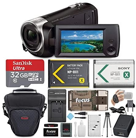510PCmTuhgL. AC  - Sony CX405 Handycam 1080p Camcorder with 32GB SD Card and Accessory Bundle