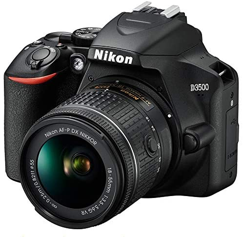 517iphgavRL. AC  - Nikon D3500 24.2MP DSLR Camera with AF-P DX NIKKOR 18-55mm f/3.5-5.6G VR Lens (1590B) – (Renewed)