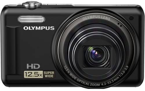"""519CfF+QJ9L. AC  - Olympus VR-320 14 MP Digital Camera with 12.5x Optical Zoom and 3"""" LCD (Black) (Old Model)"""