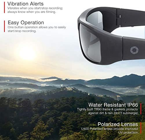 51EOMS4YE0L. AC  - iVUE Vista 4K/1080P HD Camera Glasses Video Recording Sport Sunglasses DVR Eyewear, Up to 120FPS, 64GB Memory