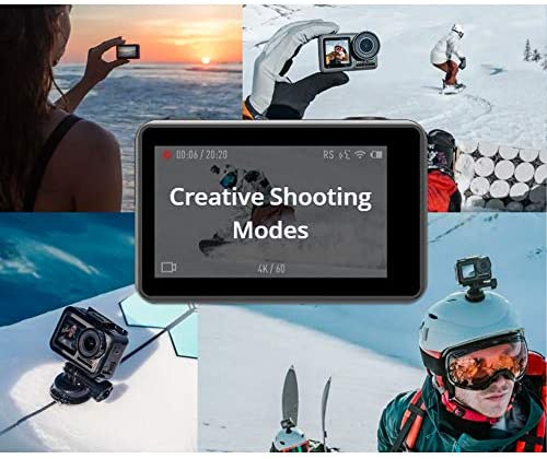 51FIcbmsuCL. AC  - DJI Osmo Action - 4K Action Cam 12MP Digital Camera with 2 Displays 36ft Underwater Waterproof WiFi HDR Video 145° Angle, Black