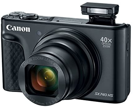 51JtyYnGe3L. AC  - Canon PowerShot SX740 Digital Camera w/40x Optical Zoom & 3 Inch Tilt LCD - 4K VIdeo, Wi-Fi, NFC, Bluetooth Enabled (Black)