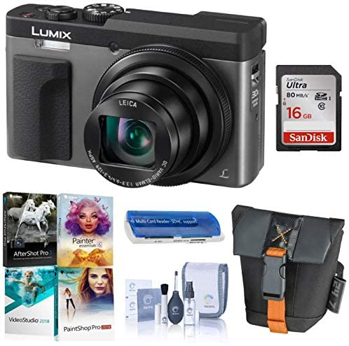 51KhwqywbuL. AC  - Panasonic LUMIX DC-ZS70S, 20.3 Megapixel, 4K Digital Camera, Touch Enabled 3-inch 180 Degree Flip-Front Display, 30X Zoom (Silver), Bag, 16GB SD Card, Corel PC Software, Cleaning Kit, Card Reader