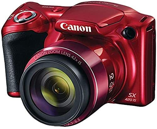 51Me4P4wSwL. AC  - Canon PowerShot SX420 Digital Camera w/ 42x Optical Zoom - Wi-Fi & NFC Enabled (Red)