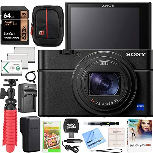51MlZRBhDXL. AC  - Sony Cyber-Shot RX100 VII RX100M7 Premium Compact Camera DSC-RX100M7 Enhanced Bundle with Triple 3X Battery Pack + 64GB Memory Card + Deco Gear Travel Case Accessory Kit & Photo Video Software