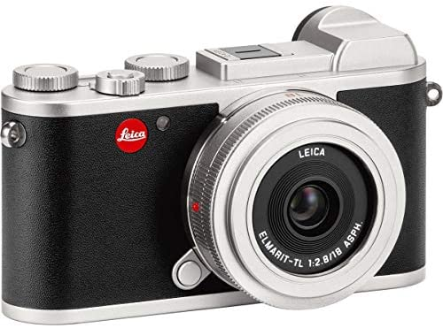 51Mu9JcDJLL. AC  - Leica CL Mirrorless Digital Camera, Silver 18mm F2.8 ELMARIT-TL Aspherical Pancake Lens, Silver