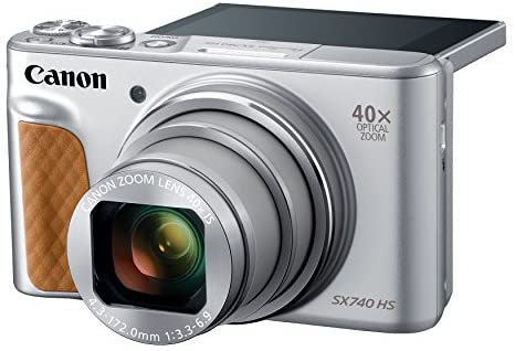 51QWcNDNlmL. AC  - Canon PowerShot SX740 Digital Camera w/40x Optical Zoom & 3 Inch Tilt LCD - 4K VIdeo, Wi-Fi, NFC, Bluetooth Enabled (Silver)
