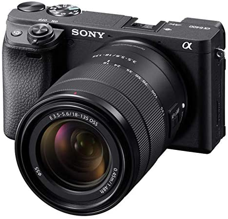 51QbxPBhgeL. AC  - Sony Alpha a6400 Mirrorless Camera: Compact APS-C Interchangeable Lens Digital Camera with Real-Time Eye Auto Focus, 4K Video, Flip Screen & 18-135mm Lens - E Mount Compatible Cameras - ILCE-6400M/B