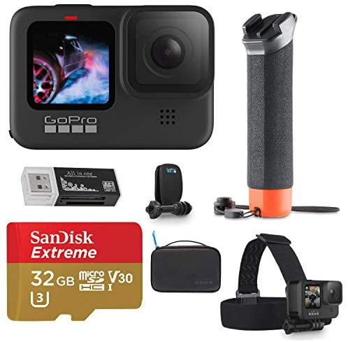 51SN1yVu82L. AC  - GoPro HERO9 Black, Sports and Action Camera Bundle with Adventure Kit, 32GB microSD Card, Card Reader