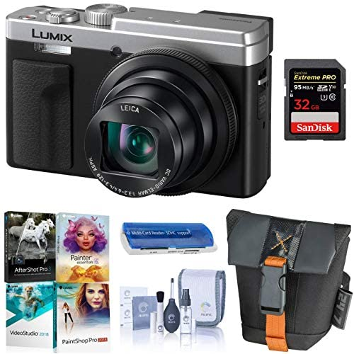 51dgbJ2pPTL. AC  - Panasonic LUMIX ZS80, 20.3 Megapixel Digital Camera, 4K Video, 30X Zoom Leica Lens DC-ZS80S (Silver), Bundle with Camera Bag, Corel PC Software Pack, 32GB SD Card, Cleaning Kit, Card Reader