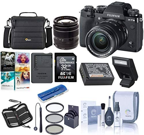 51dlz3GVlNL. AC  - Fujifilm X-T3 26.1MP Mirrorless Camera with XF 18-55mm f/2.8-4 R LM OIS Lens, Black - Bundle with 32GB SDHC Card, Camera Case, 58mm Filter Kit, Cleaning Kit, Card Reader, PC Software Pack and More