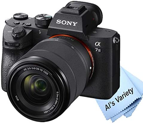 51kng9vxNhL. AC  - Sony Alpha a7 III Mirrorless Digital Camera with 28-70mm Lens, 32GB Card, Tripod, Case, and More (18pc Bundle)