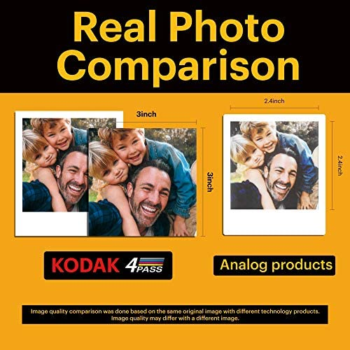 """51s2DUOqXHL. AC  - Kodak Mini Shot 3 Retro 2-in-1 Portable 3x3"""" Wireless Instant Camera & Photo Printer, Compatible with iOS, Android & Bluetooth, Real Photo HD 4Pass Technology & Laminated Finish – Yellow"""