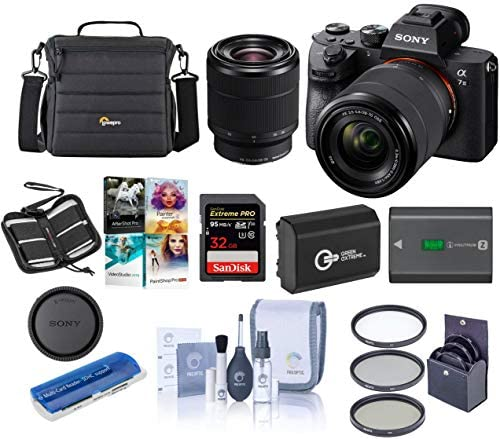 51svF8+QiqL. AC  - Sony Alpha a7 III 24MP UHD 4K Mirrorless Camera with 28-70mm Lens - Bundle 32GB SDHC U3 Card, Camera Case, 55mm Filter Kit, Spare Battery, Cleaning Kit, Memory wallet, Card Reader, PC Software Package