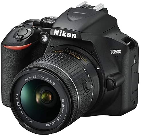 51u1ZLHGsxL. AC  - Nikon D3500 24.2MP DSLR Camera with AF-P DX NIKKOR 18-55mm f/3.5-5.6G VR Lens (1590B) – (Renewed)