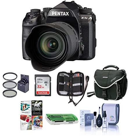 51x1hat3pxL. AC  - Pentax K-1 Mark II Digital SLR with HD D FA L 28-105mm F3.5/5.6 ED Lens - Bundle with 32GB SDHC Card, Camera Case, 62mm Filter Kit, Cleaning Kit, Memory Wallet, Card Reader, PC Software Package
