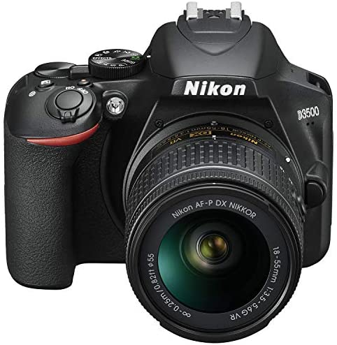 51x8JrhCF8L. AC  - Nikon D3500 24.2MP DSLR Camera with AF-P DX NIKKOR 18-55mm f/3.5-5.6G VR Lens (1590B) – (Renewed)