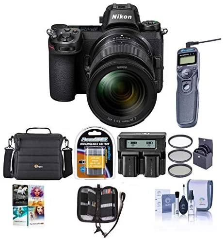 51yU+Nu2daL. AC  - Nikon Z7 FX-Format Mirrorless Camera with NIKKOR Z 24-70mm f/4 S Lens - Bundle with Camera Case, Spare Battery, 72mm Filter Kit, Dual Charger, Remote Shutter Trigger, Pc Software Package, and More
