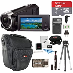 f699ad00 0ab6 47ea 9ed6 6aefc024fd20. CR0,0,1500,1500 PT0 SX300   - Sony CX405 Handycam 1080p Camcorder with 32GB SD Card and Accessory Bundle