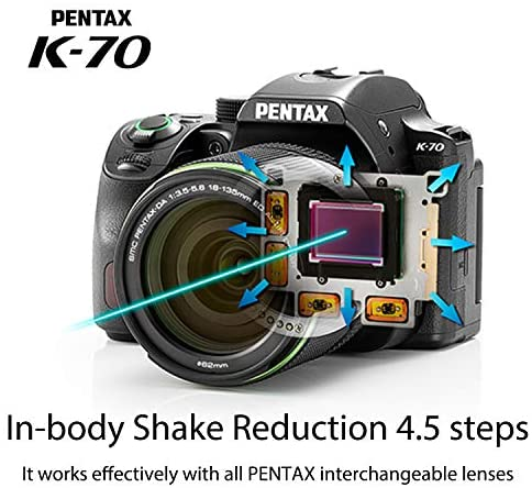 1621565132 425 51TjXClSO0L. AC  - Pentax K-70 Weather-Sealed DSLR Camera with 18-135mm Lens (Silver) with Adobe Creative Cloud Photography Plan 20 GB (Photoshop+Lightroom) 12-Month Subscription