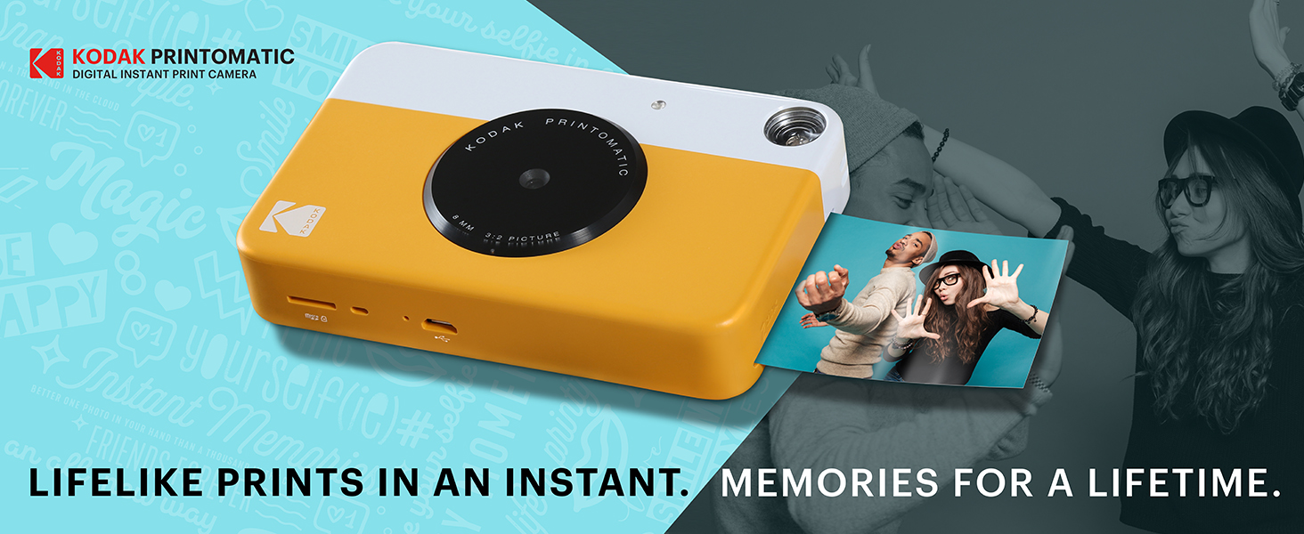 1621993891 680 87c04452 4006 4961 8a3b 705319881947.  CR0,0,1464,600 PT0 SX1464 V1    - KODAK Printomatic Instant Camera (Blue) All-in-Bundle + Zink Paper (20 Sheets) + Deluxe Case + Photo Album + 7 Unique Sticker Sets + Markers + Scissors + Border Stickers and So Much More