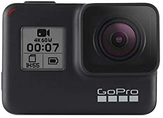 314yO91ea0L. AC  - GoPro HERO7 Black Waterproof Digital Action Camera with Touch Screen 4K HD Video 12MP Photos Live Streaming Stabilization (Renewed)