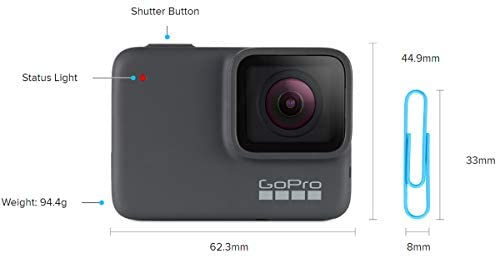 316YE2gvKoL. AC  - GoPro HERO7 Silver + PNY Elite-X 32GB microSDHC Card Adapter-UHS-I, U3 - Waterproof Digital Action Camera with Touch Screen 4K HD Video 10MP Photos Live Streaming Stabilization