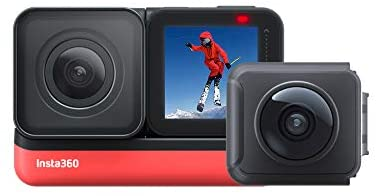 31IDniqpjFL. AC  - Insta360 ONE R Twin Edition – Action Camera & 360 Camera with Interchangeable Lenses, Stabilization, IPX8 Waterproof, Touch Screen, AI Editing