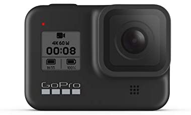 31QPKAoxnpL. AC  - GoPro HERO8 Black - Waterproof Action Camera with Touch Screen 4K Ultra HD Video 12MP Photos 1080p Live Streaming Stabilization