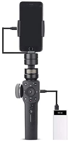 31Z7W2ylEHL. AC  - Zhiyun Smooth 4 3-Axis Handheld Gimbal Stabilizer with Grip Tripod for iPhone 12 11 Pro Xs Max Xr X 8 Plus 7 6 SE Android Cell Phone Smartphone YouTube Vlog Live Video Kit