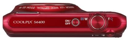 31aBSR6EjkL. AC  - Nikon COOLPIX S6400 16 MP Digital Camera with 12x Optical Zoom and 3-inch LCD (Red)