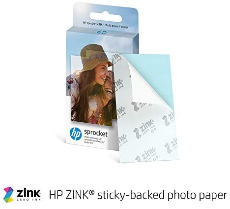 """410PQxVlpAL. AC  - HP Sprocket Portable 2x3"""" Instant Photo Printer (Luna Pearl) Print Pictures on Zink Sticky-Backed Paper From Your iOS & Android Device"""